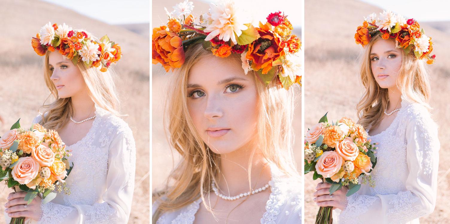 Bridal shoot: Fall Romance in California