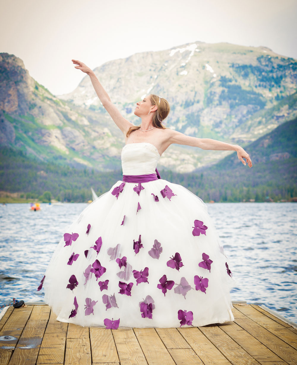 Purple Butterfly theme wedding in Colorado