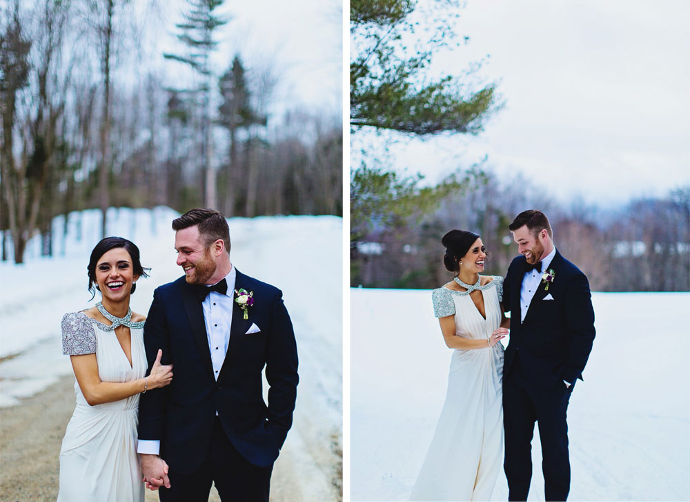 Vermont Wedding with Glitz and Glam