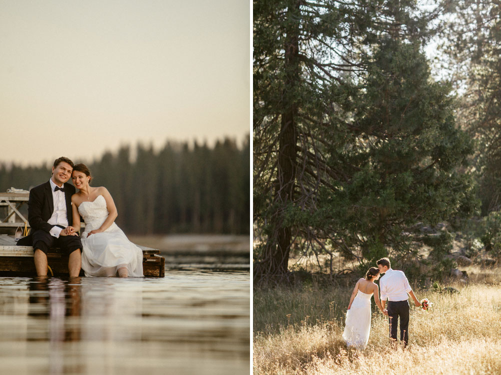Elopement on Bass Lake, Yosemite National Park