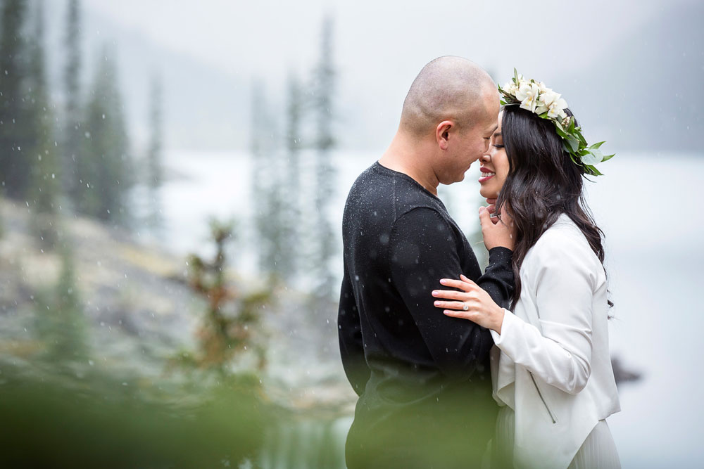 Stunning Moraine Lake Engagement Session