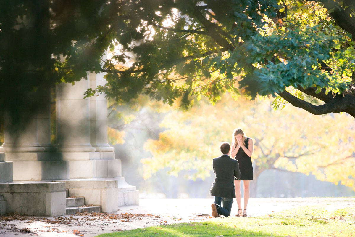 A Surprise Wedding Proposal in the Park - Denver, Colorado