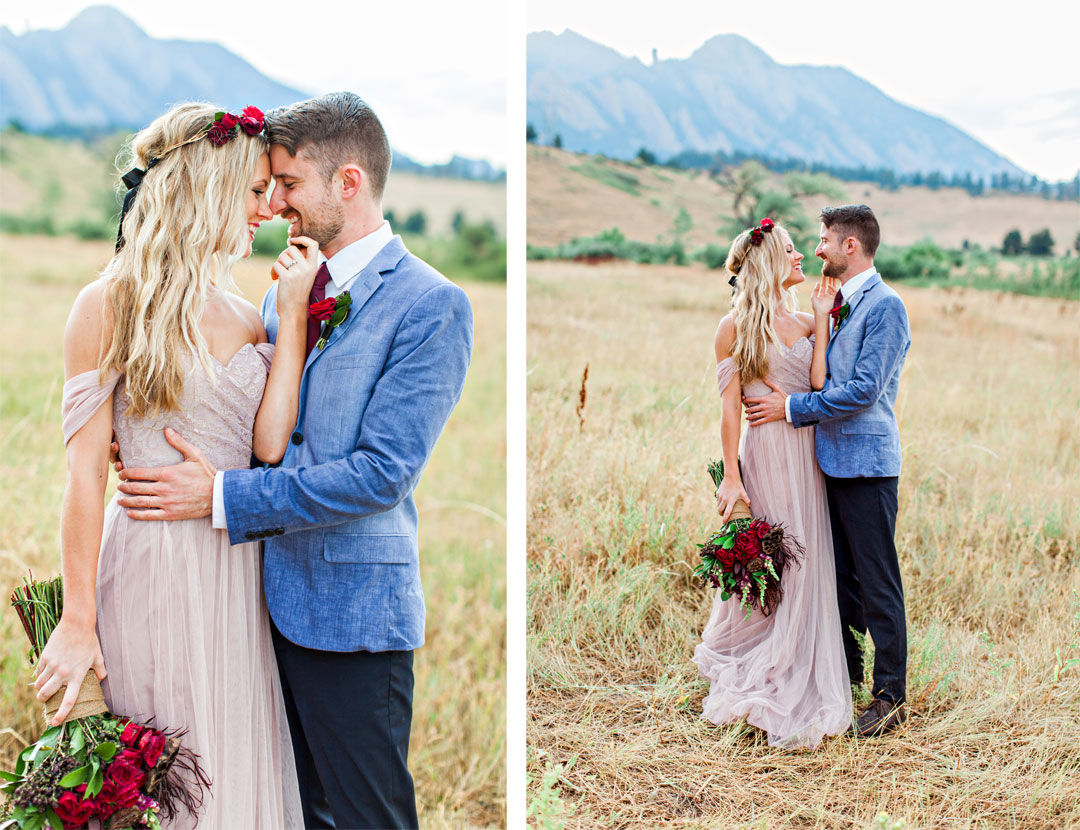 Romantic Bohemian Elopement in Boulder