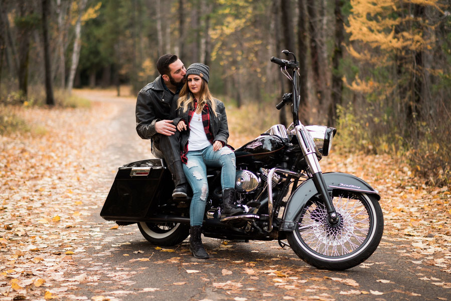 Motorcycle Engagement Session, Glacier National Park