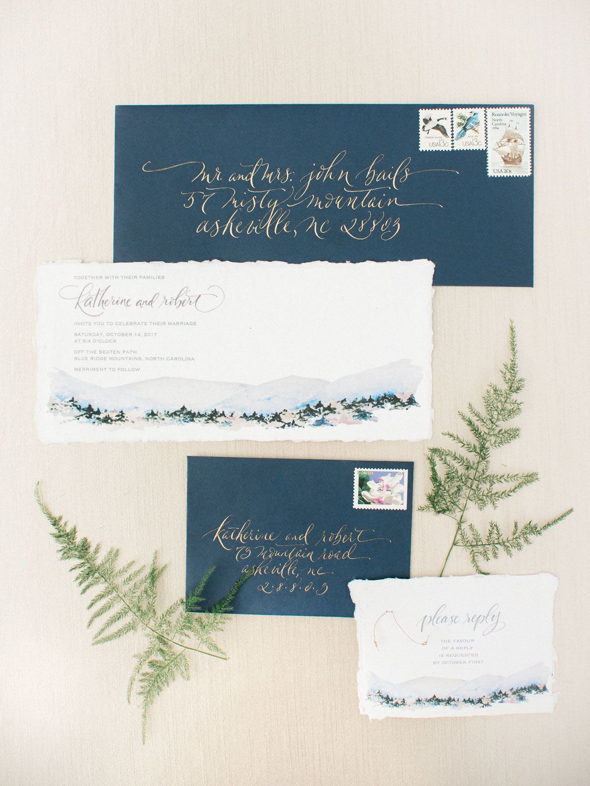 Blue Ridge Mountain Wedding Styled Shoot
