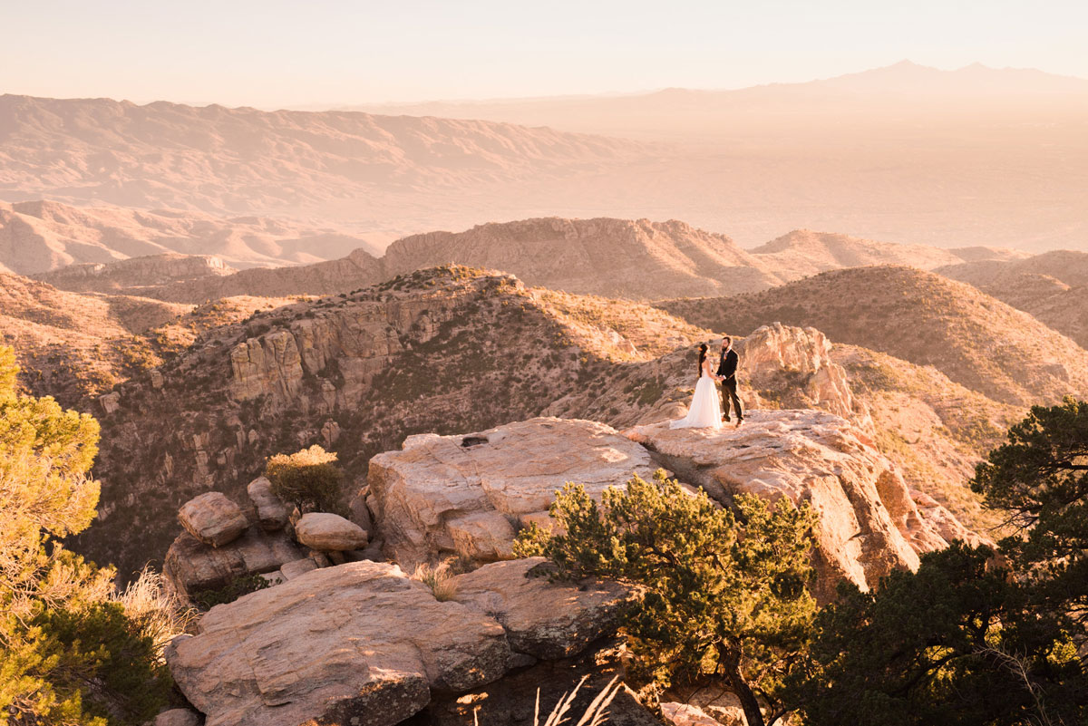 Mountain Top Elopement in Tucson