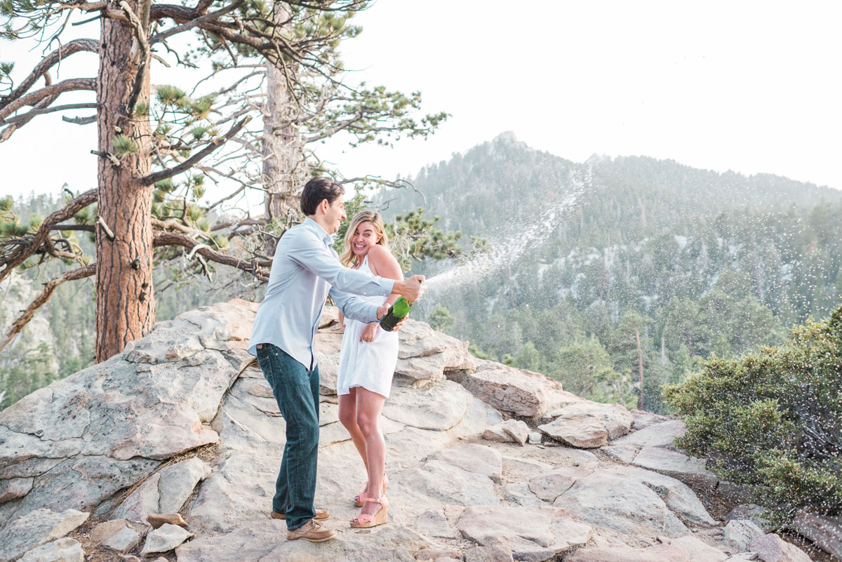 Mt San Jacinto California Engagement Session - TramEngagement