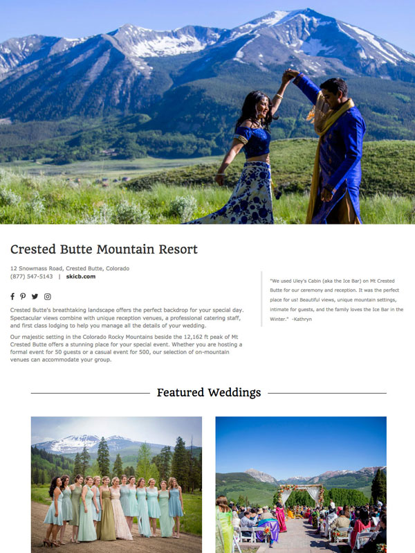 Luxe Mountain Venue Directory