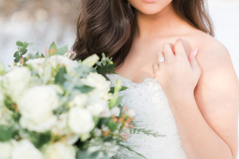 A Snowy Bridal Photo Shoot in Virginia