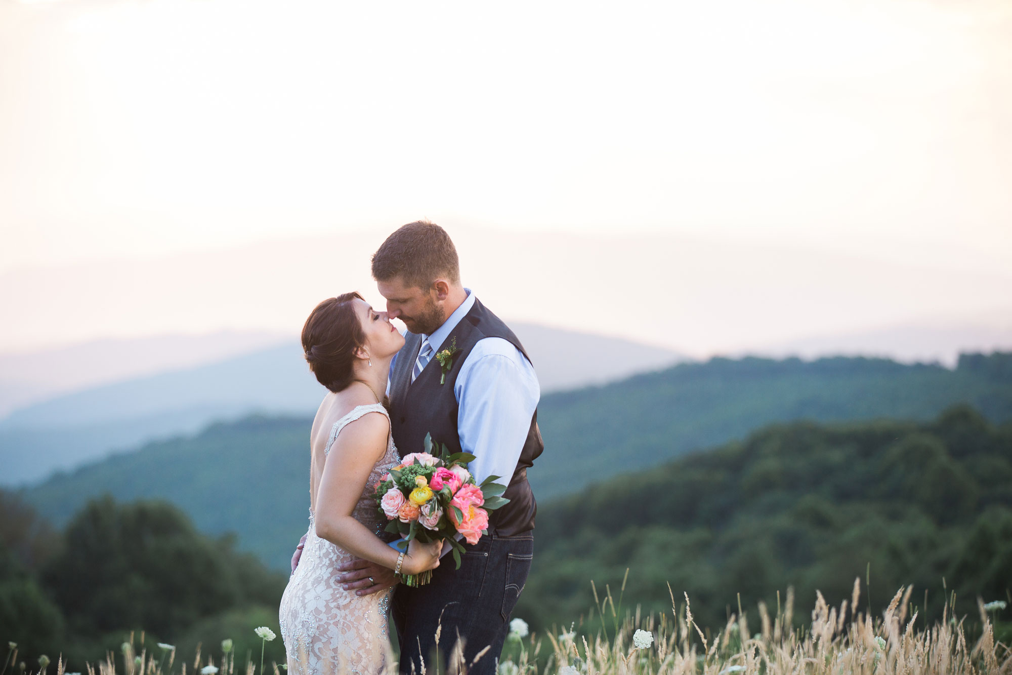 A Magical Summer Mountaintop Elopement in Asheville, North Carolina