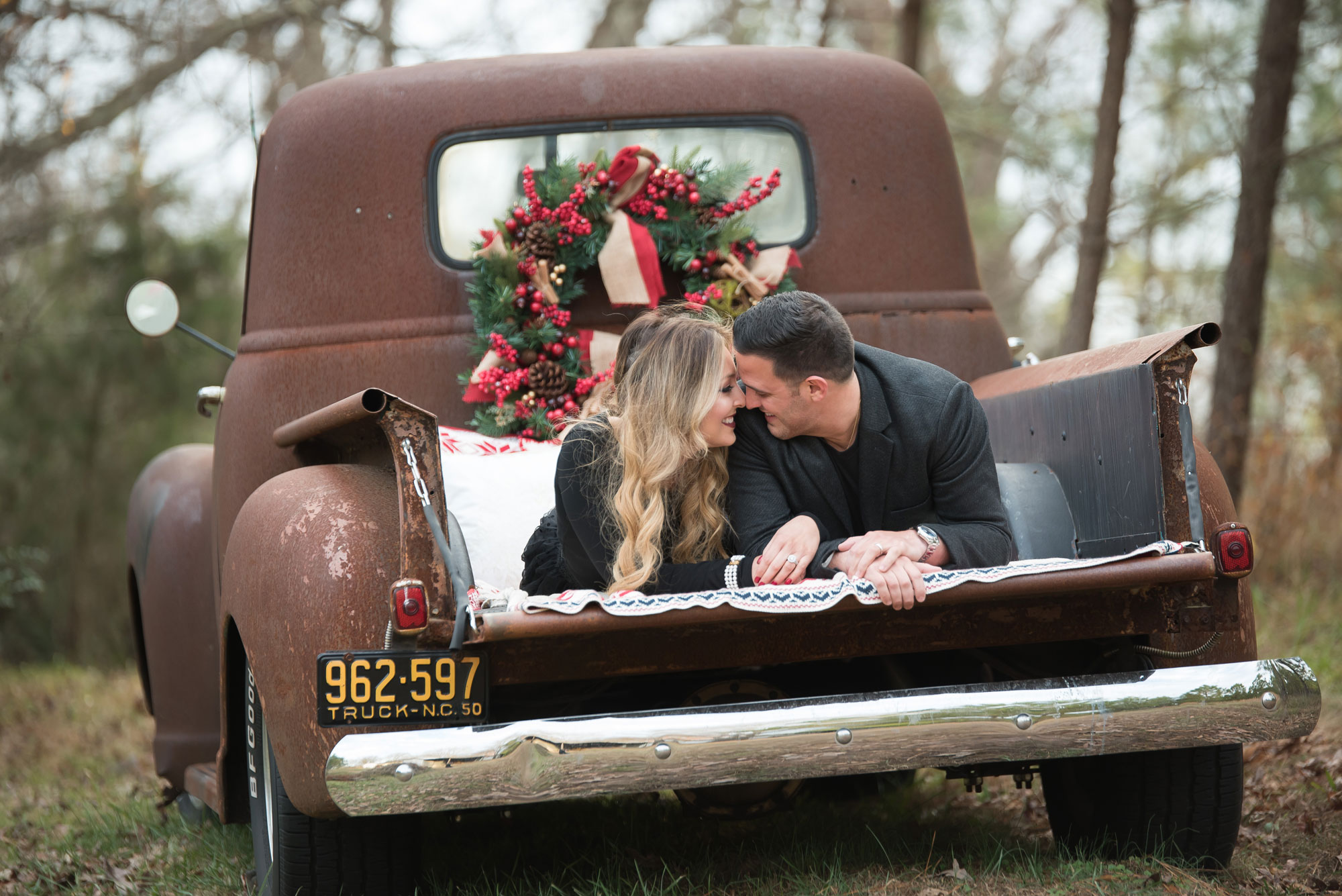 A Couples Session with an Antique Truck in North Carolina