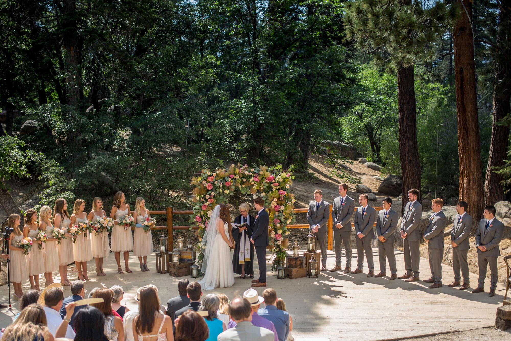 A Campground Wedding On Big Bear Lake In California Luxe Mountain Weddings Mountain