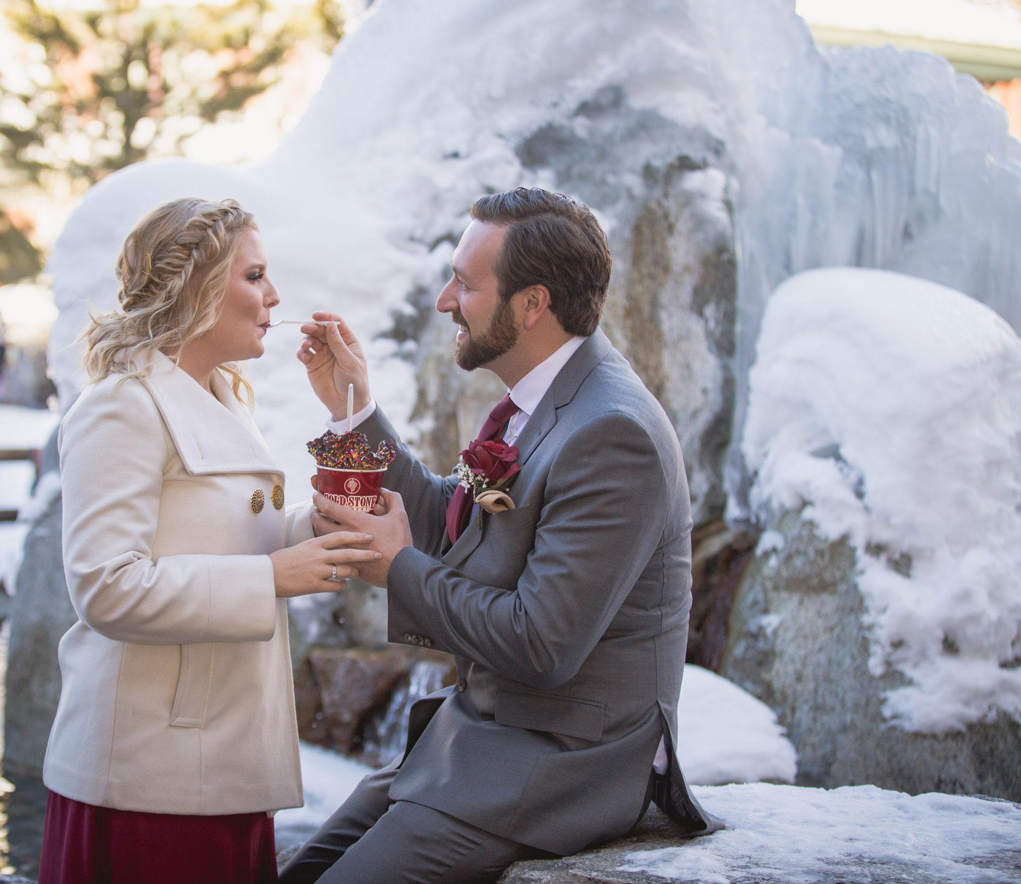 A Winter Lake Tahoe Vow Renewal