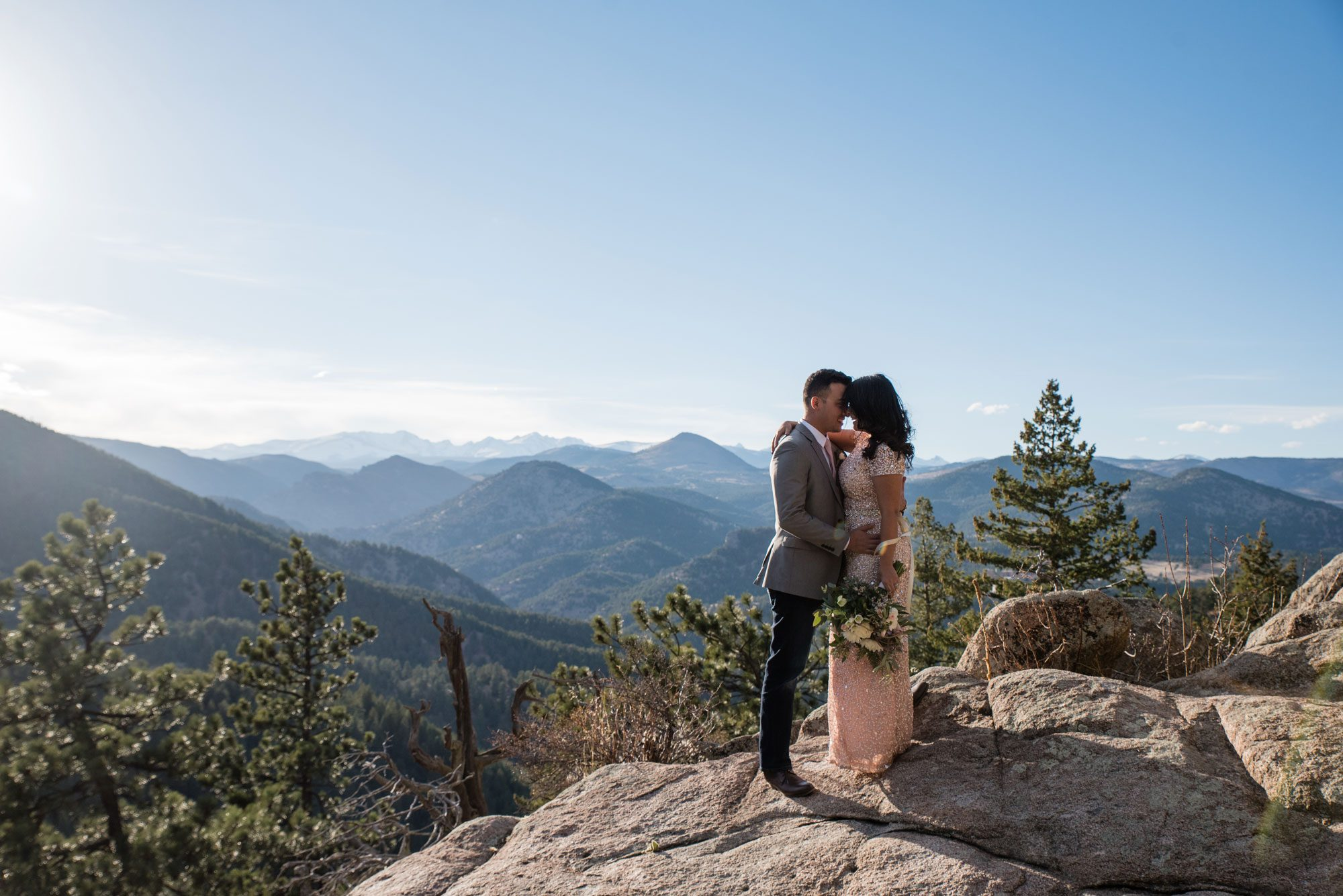 A Relaxed Mountain Elopement in Boulder, Colorado
