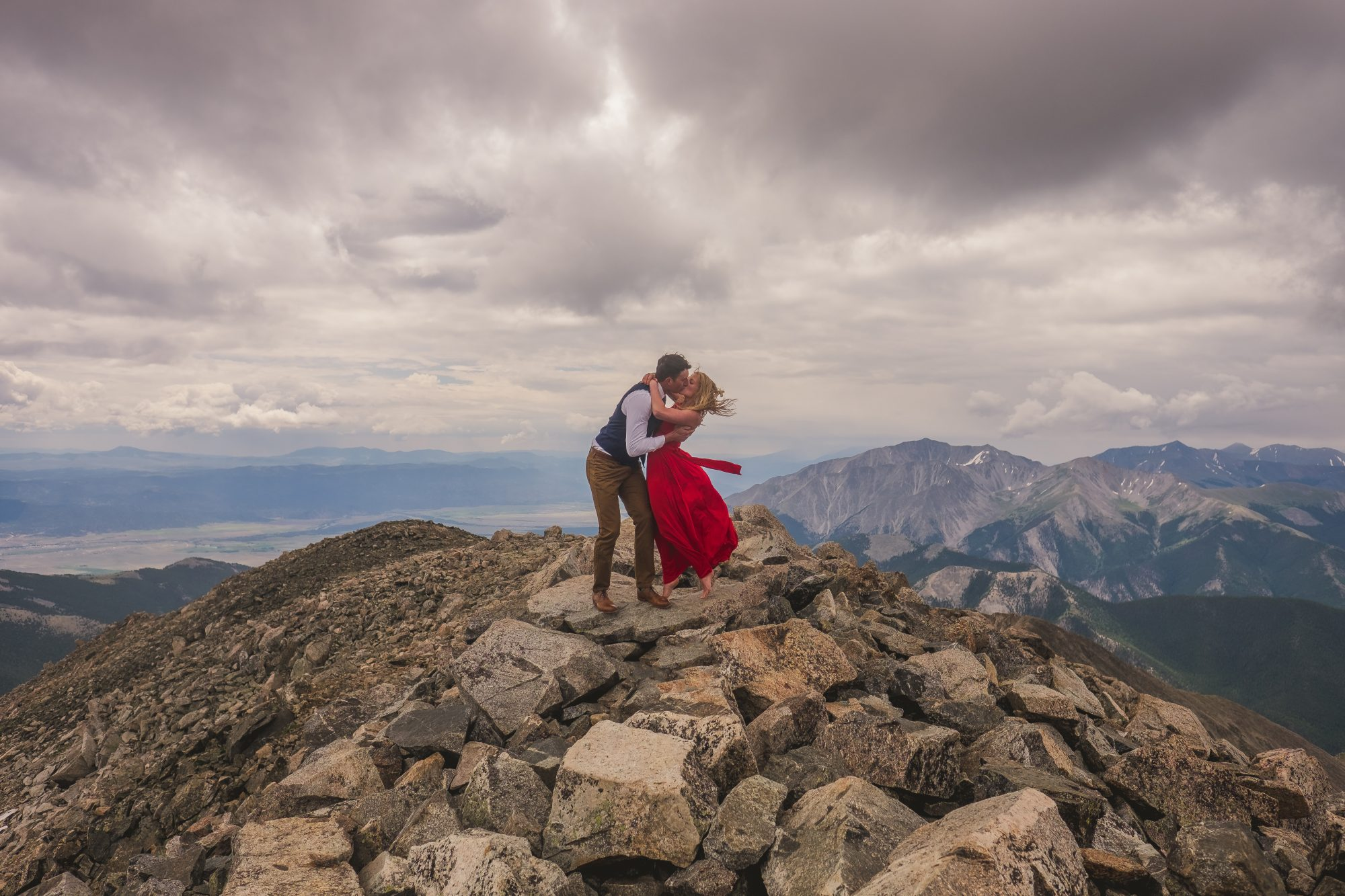 A Surprise Proposal at the Top of a Colorado Fourteener, Mount Yale