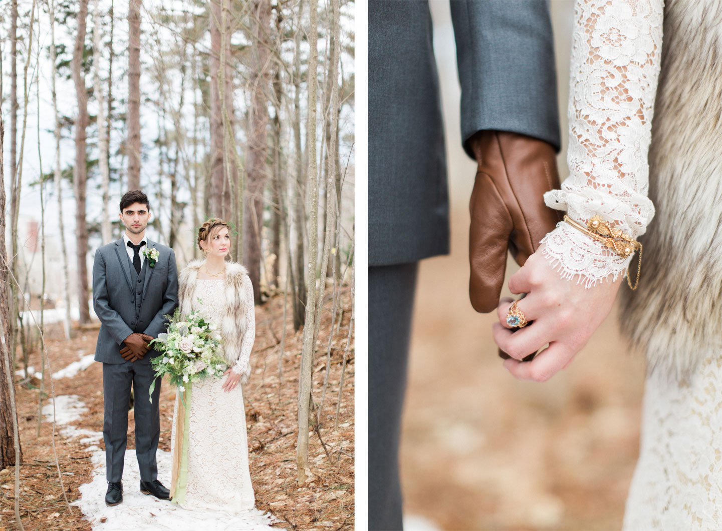 Ethereal Winter Styled Shoot in Northern Vermont