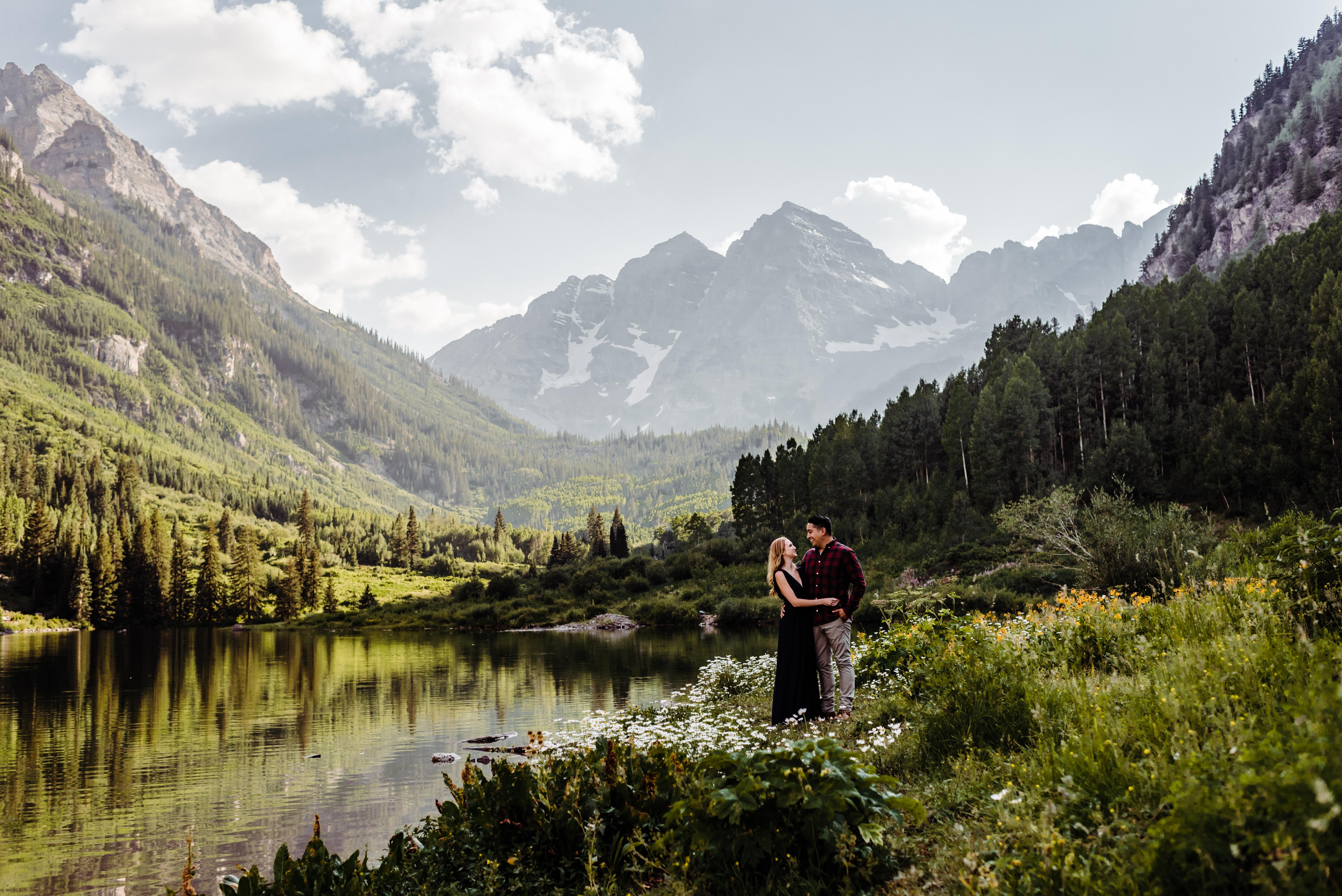 A Stunning Maroon Bells Engagement Shoot, Aspen, Colorado