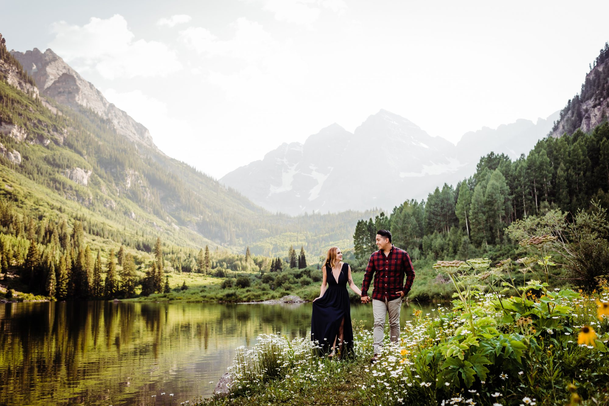 A Maroon Bells Engagement Shoot In Aspen Luxe Mountain