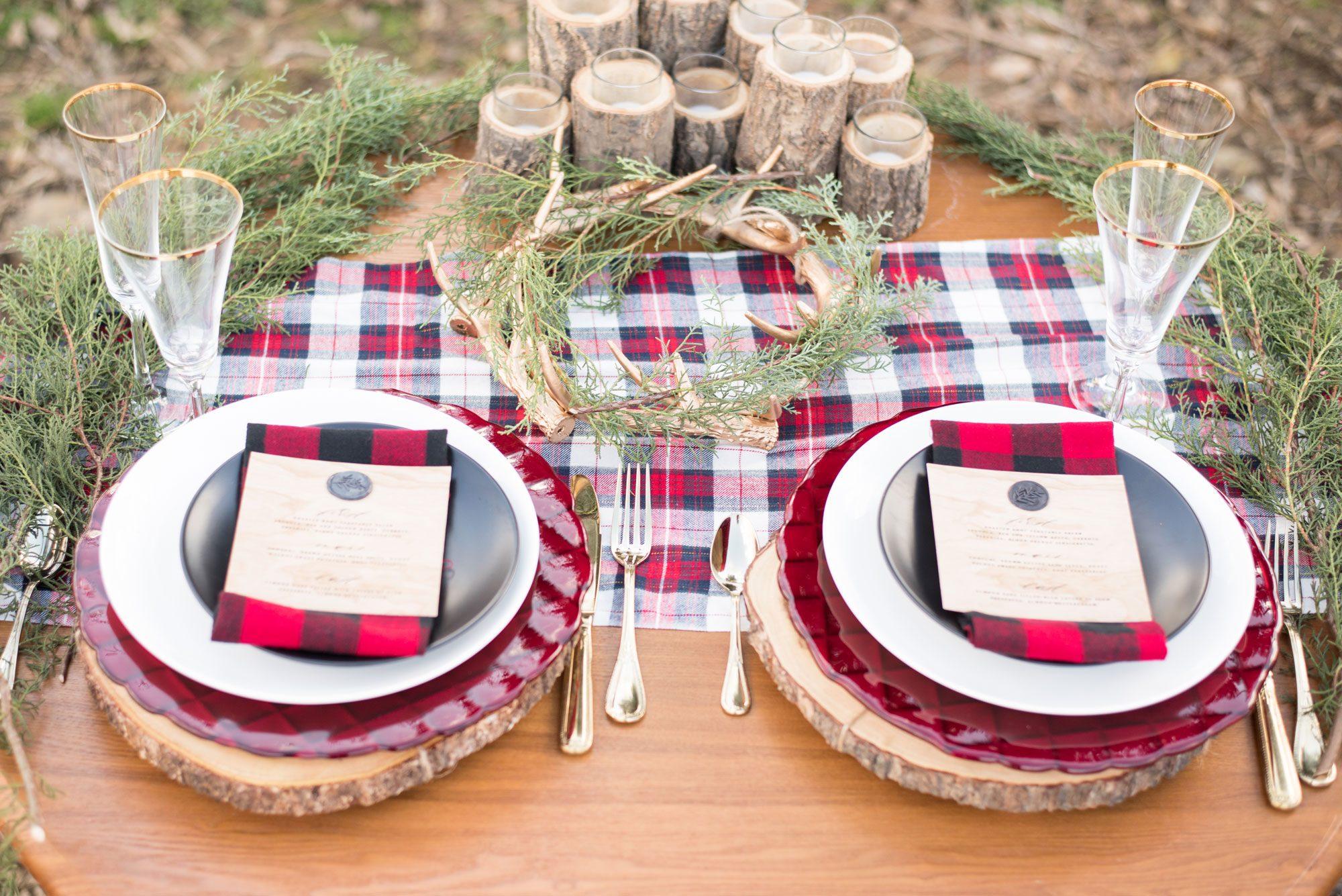 Plaid Inspiration for a Mountain Wedding in Pennsylvania