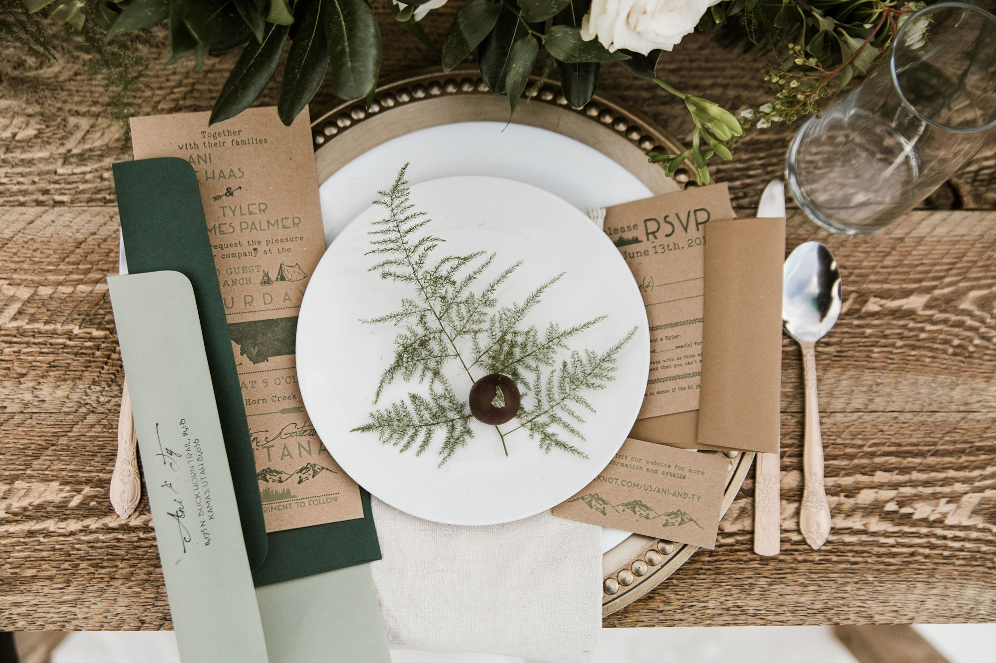 mountain rustic invitation suite