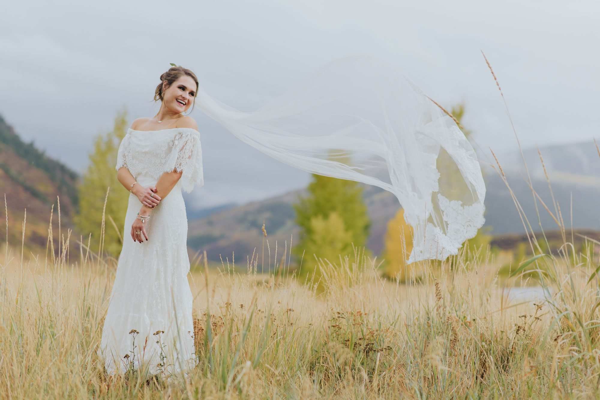 Boho Birde from a Rocky Mountain wedding in Eagle, Colorado