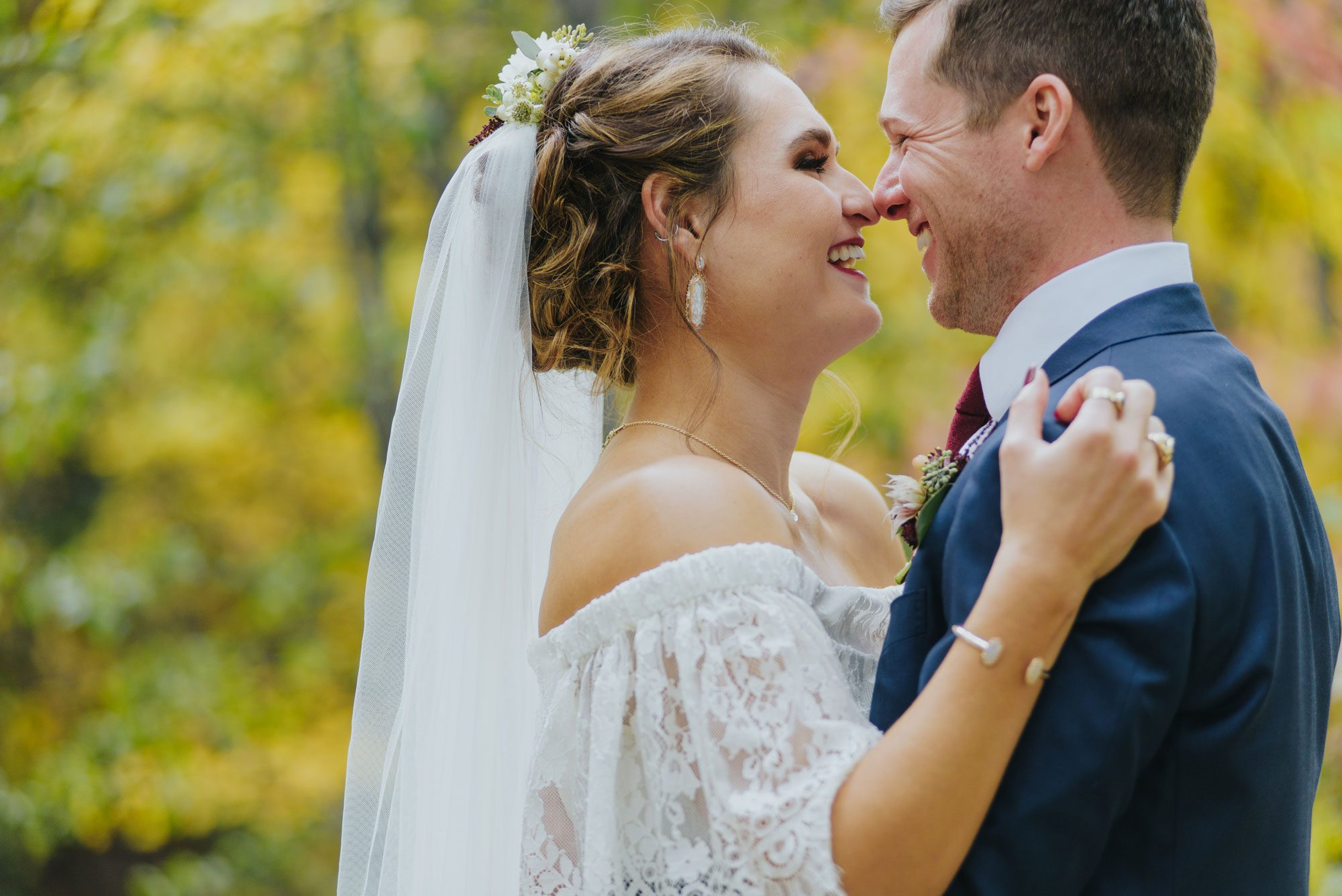 Fall Rocky Mountain wedding in Colorado
