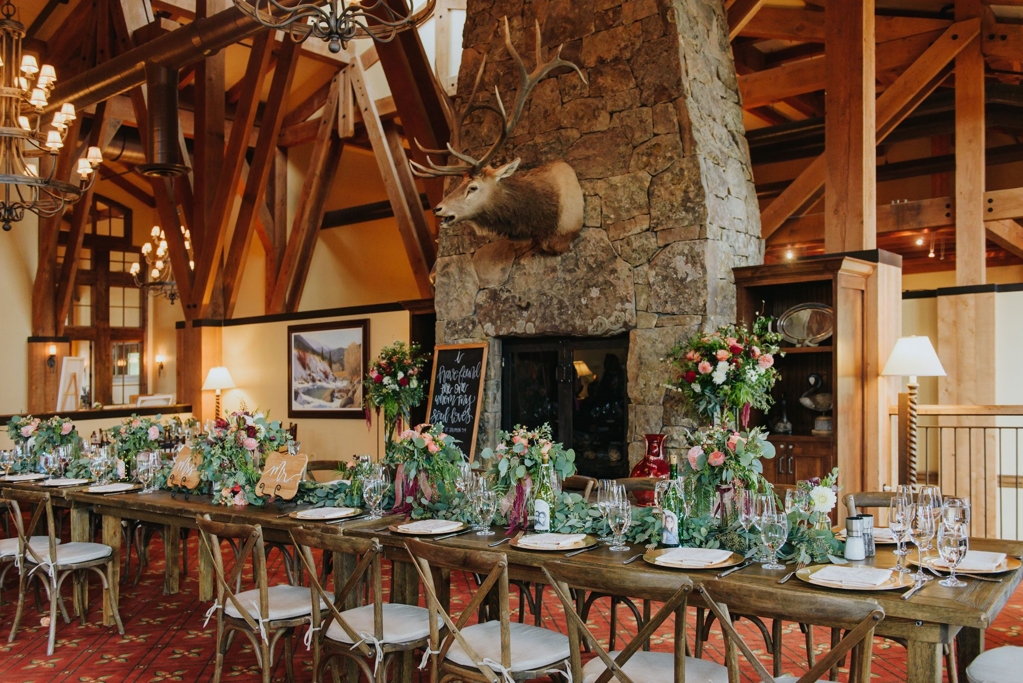 Rocky Mountain wedding reception in Eagle, Colorado