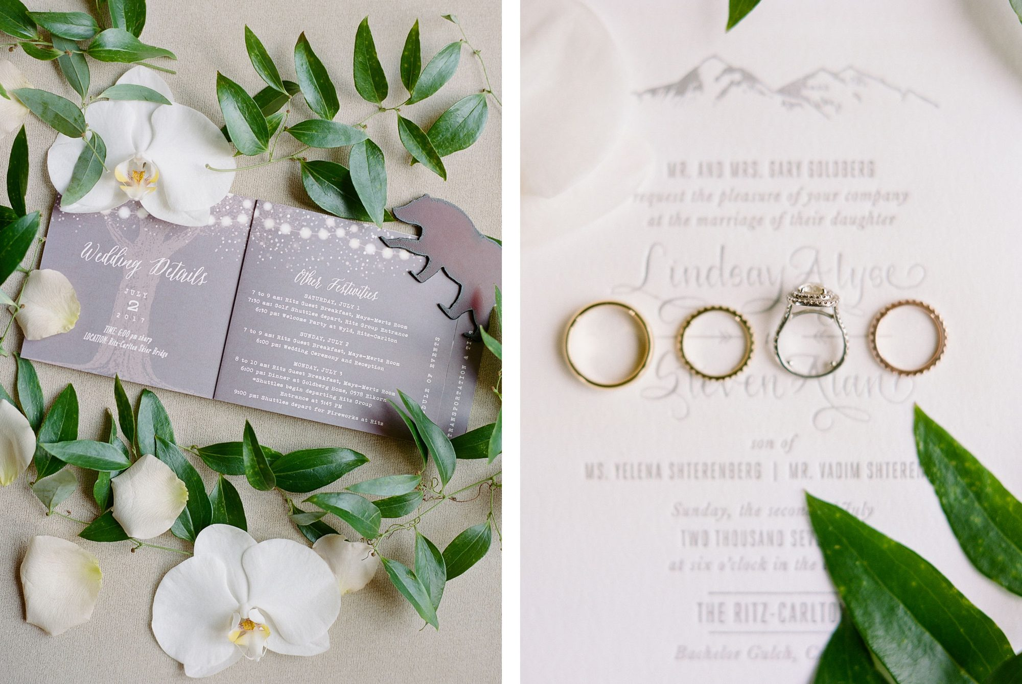 Invitation Suite - A Black Tie Rocky Mountain Destination Wedding