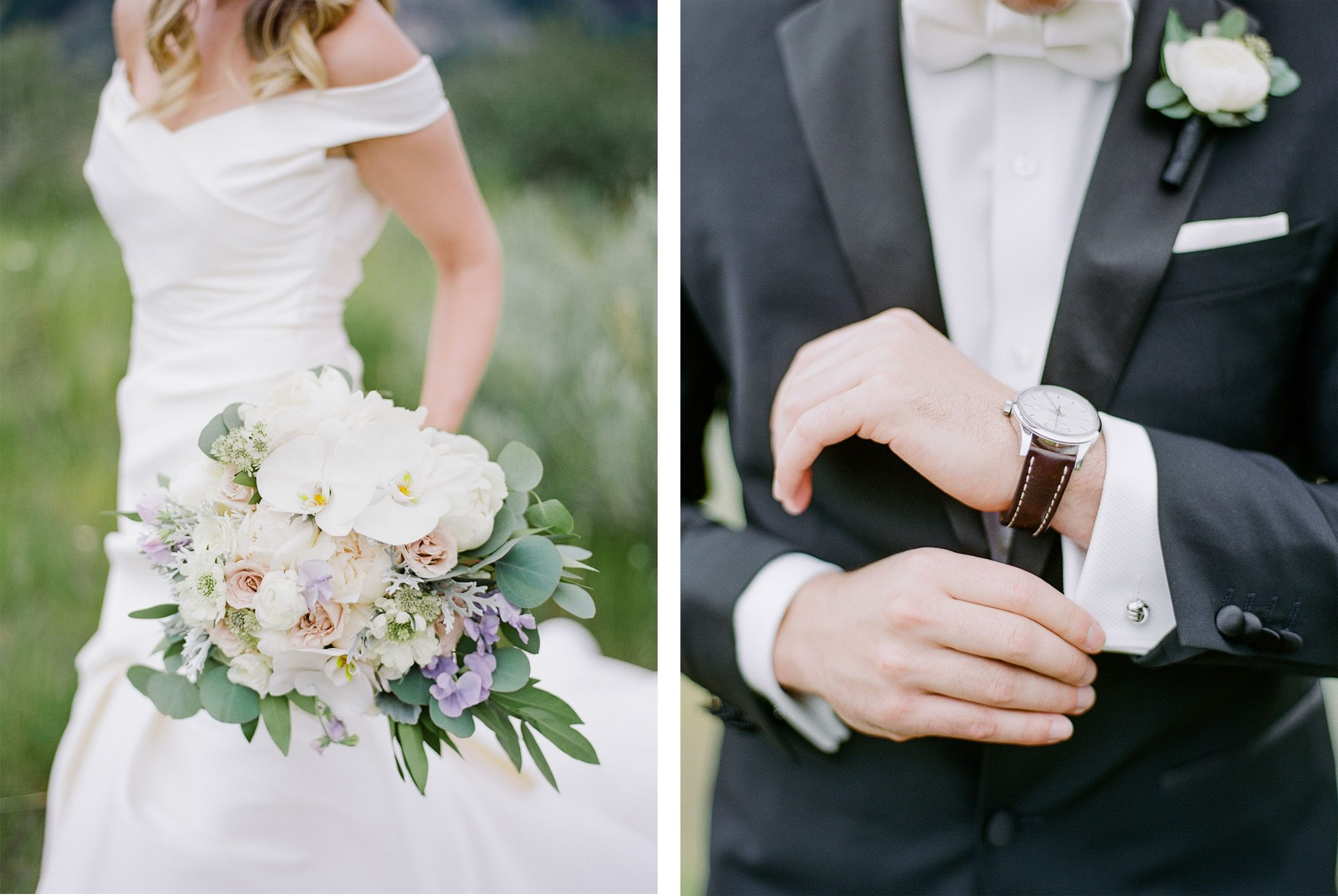 Bride + Groom - A Black Tie Rocky Mountain Destination Wedding