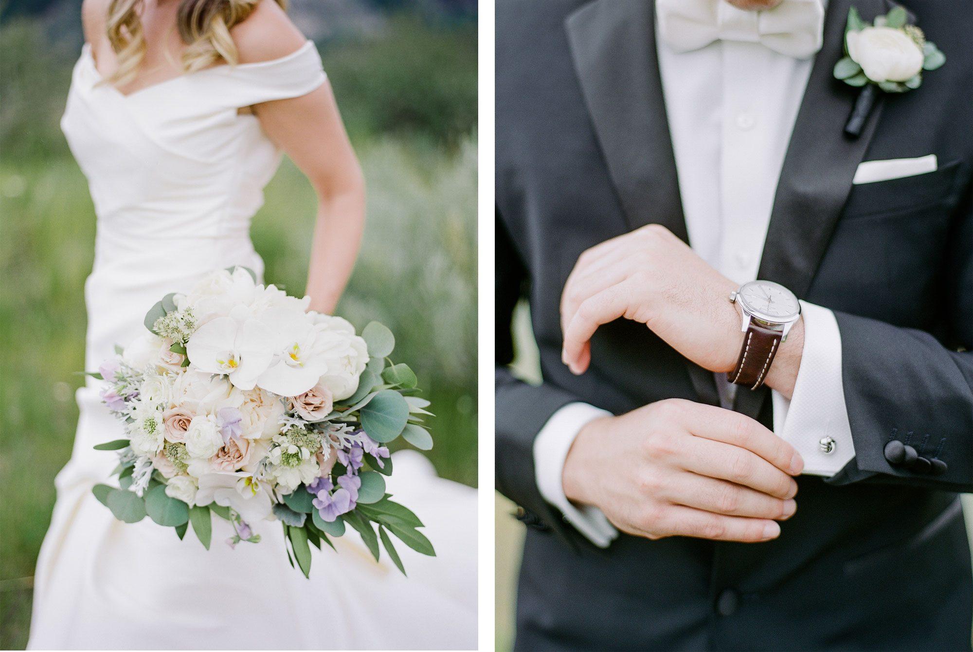 Bride + Groom - A Black Tie Rocky Mountain Destination Wedding