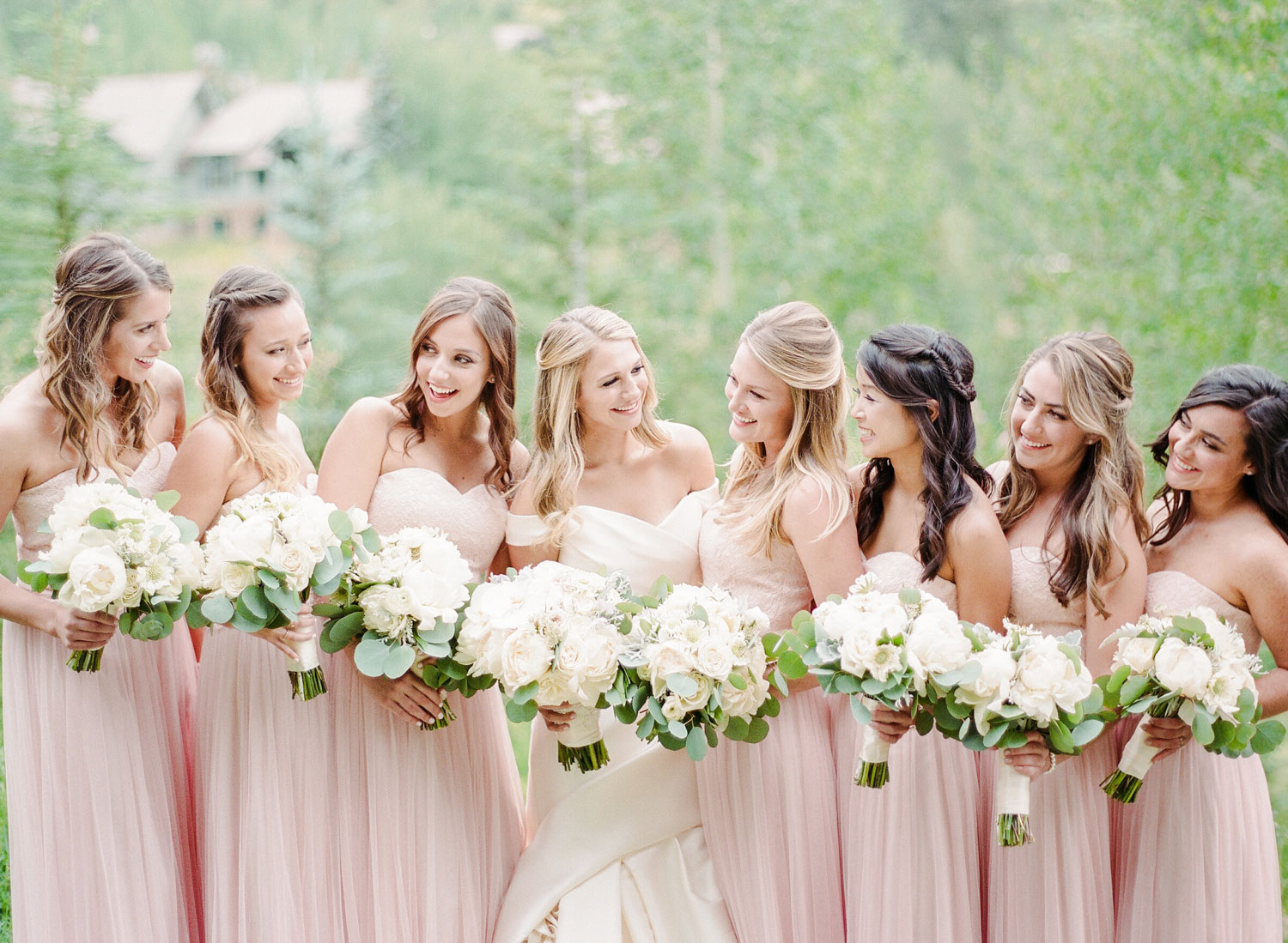 Bridesmaids - A Black Tie Rocky Mountain Destination Wedding