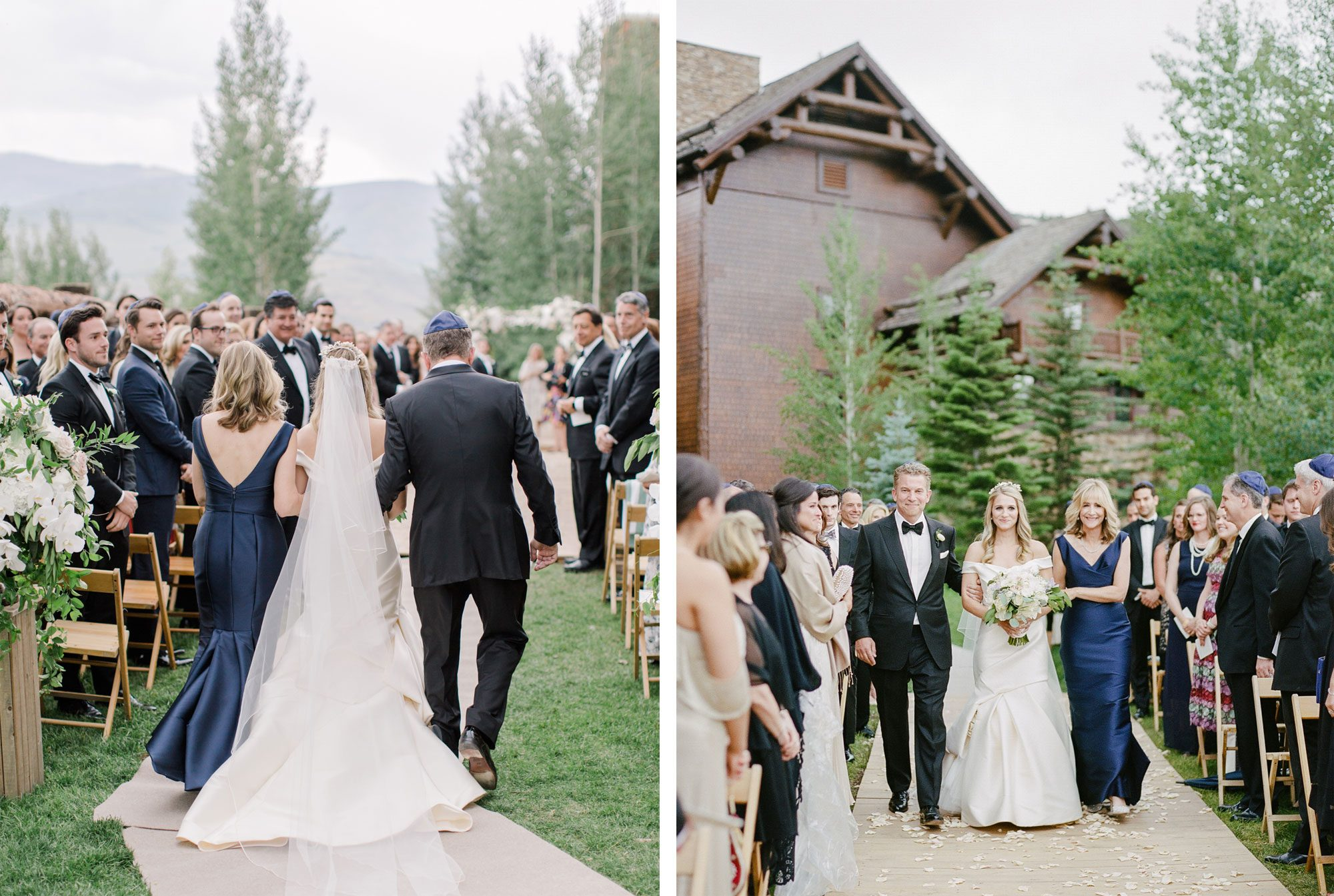 Lush ceremony arch at Ritz Carlton, Beaver Creek Colorado