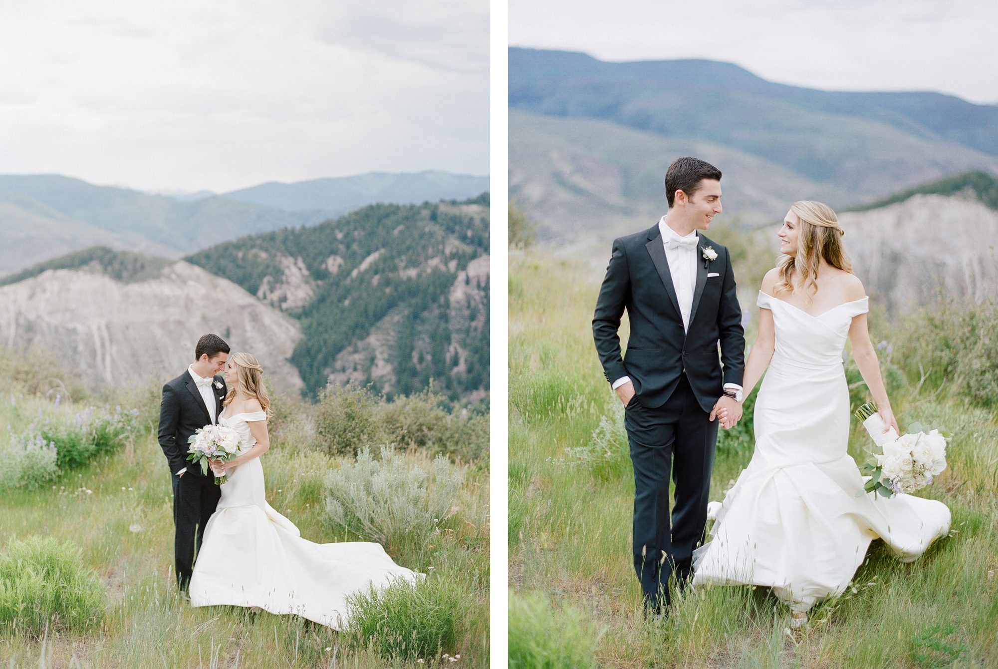 Bride & Groom in the Rocky Mountains of Beaver Creek, Colorado