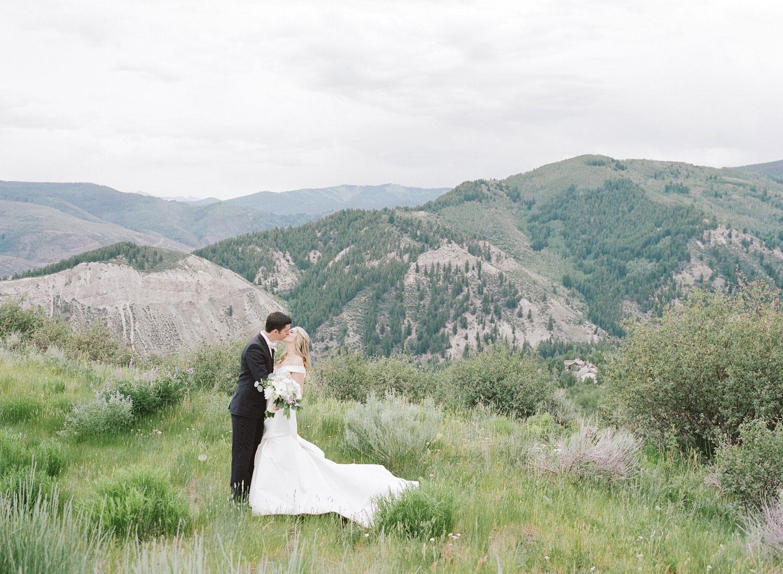 Bride & Groom in the Rocky Mountains of Beaver Creek, Colorado