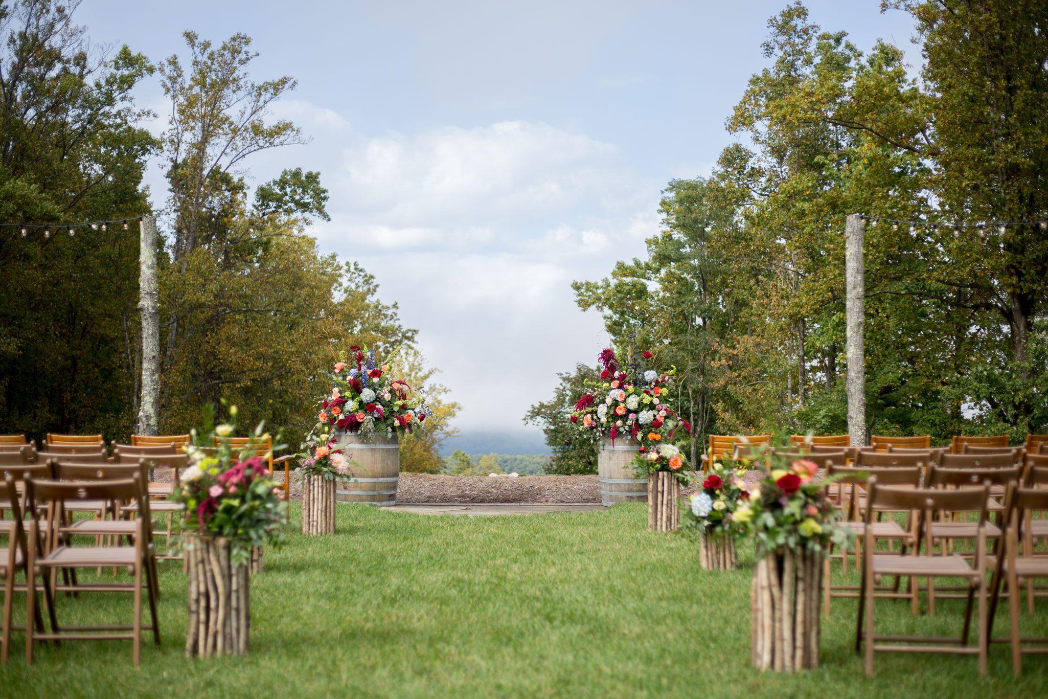Ceremony aisle - Blue Ridge Mountain Wedding, North Carolina