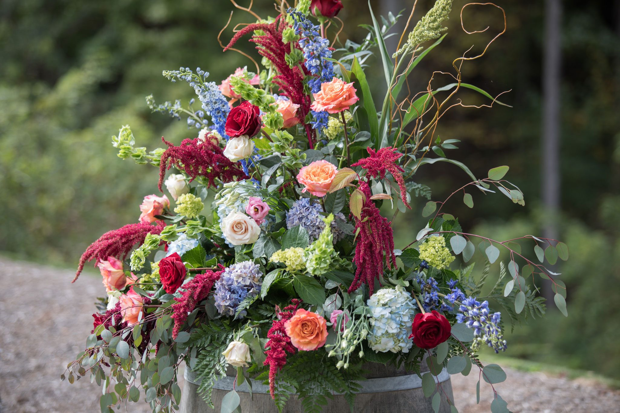 Lush florals - Blue Ridge Mountain Wedding, North Carolina