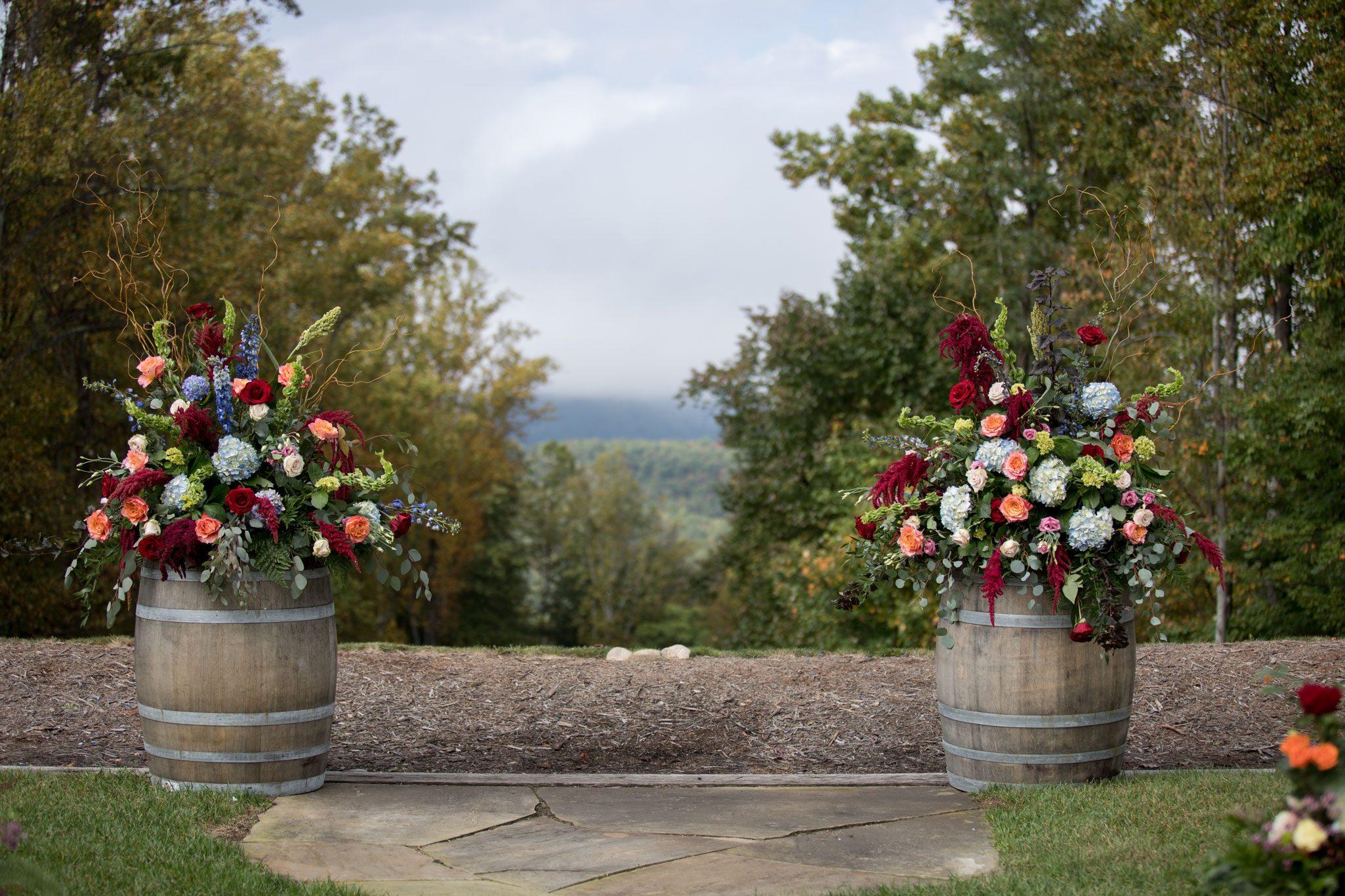 Ceremony view - Blue Ridge Mountain Wedding, North Carolina
