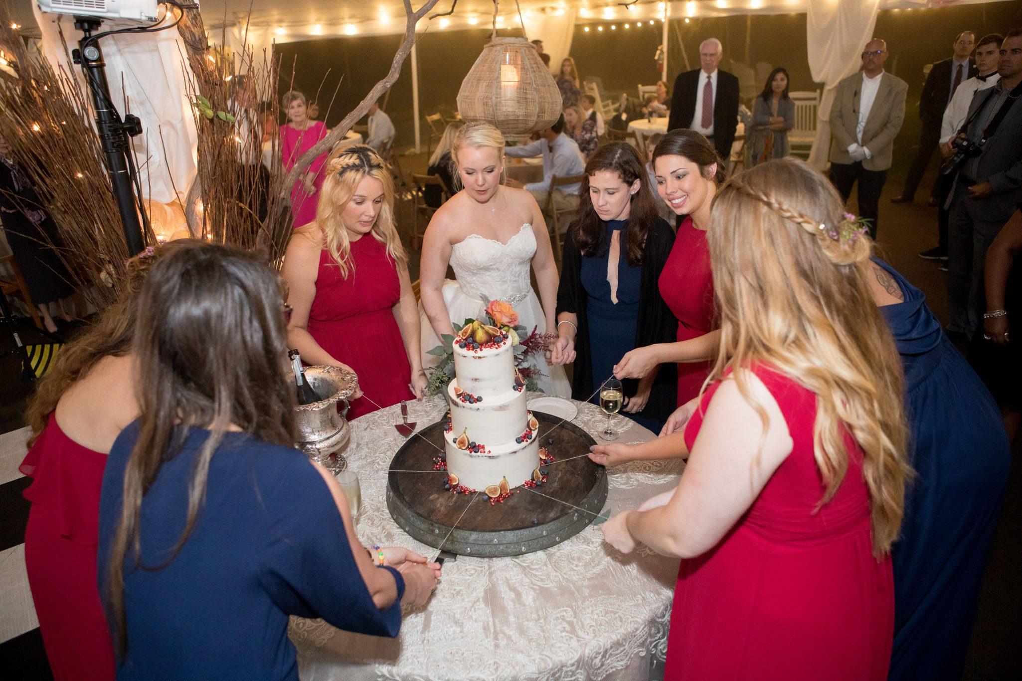 Cake pull - A Perfect Blue Ridge Mountain Wedding