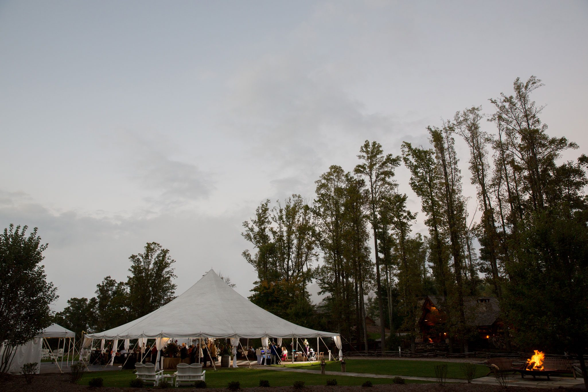 Tent Reception - A Perfect Blue Ridge Mountain Wedding