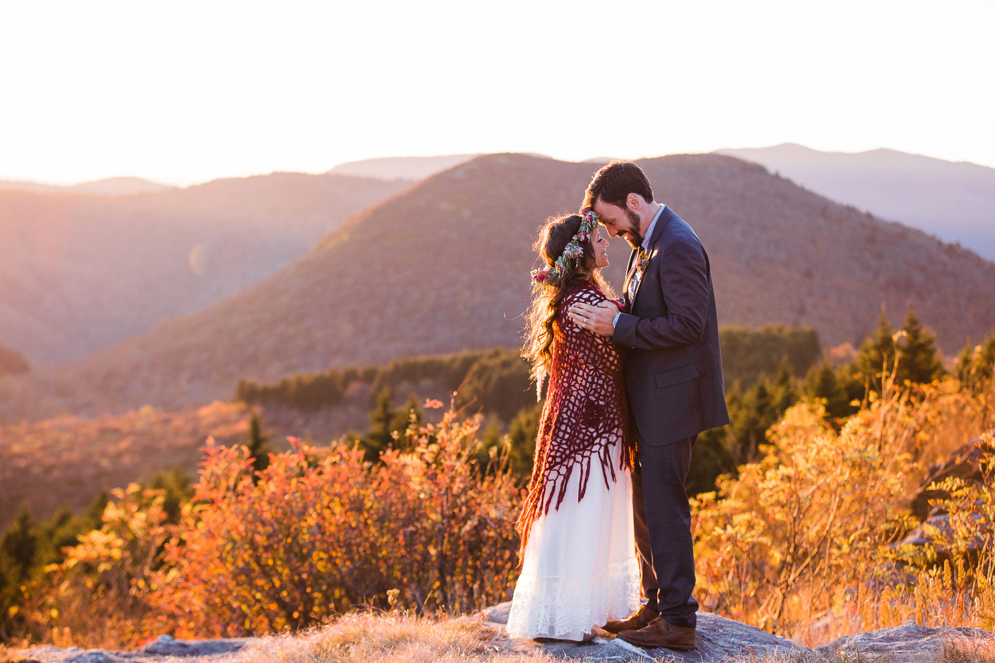 A Boho Mountaintop Elopement in Asheville