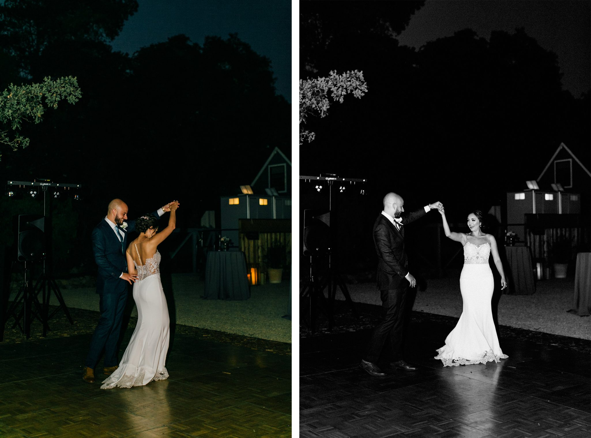 Bride & groom dancing in a Napa Valley wedding