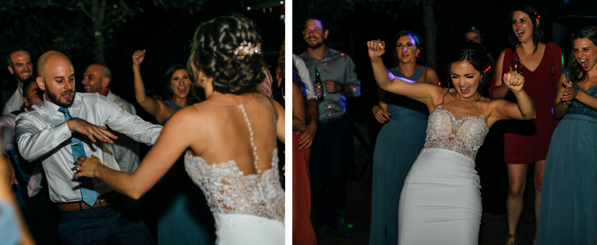 dance party at a Napa Valley wedding