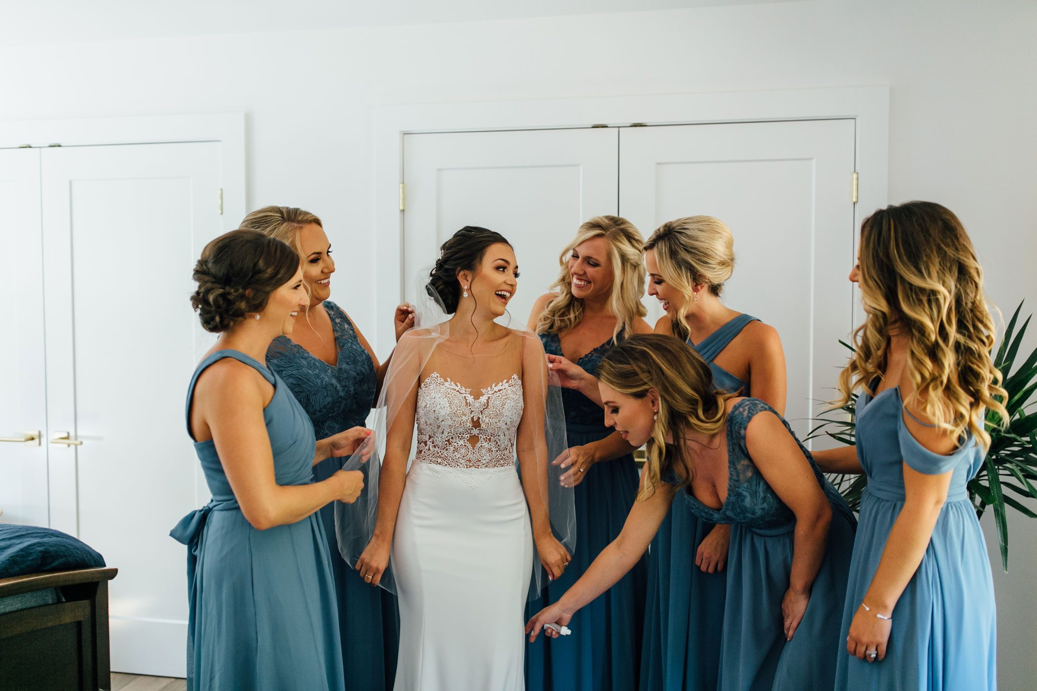 Bridesmaids from A Romantic Backyard Wedding in Wine Country, Napa Valley California
