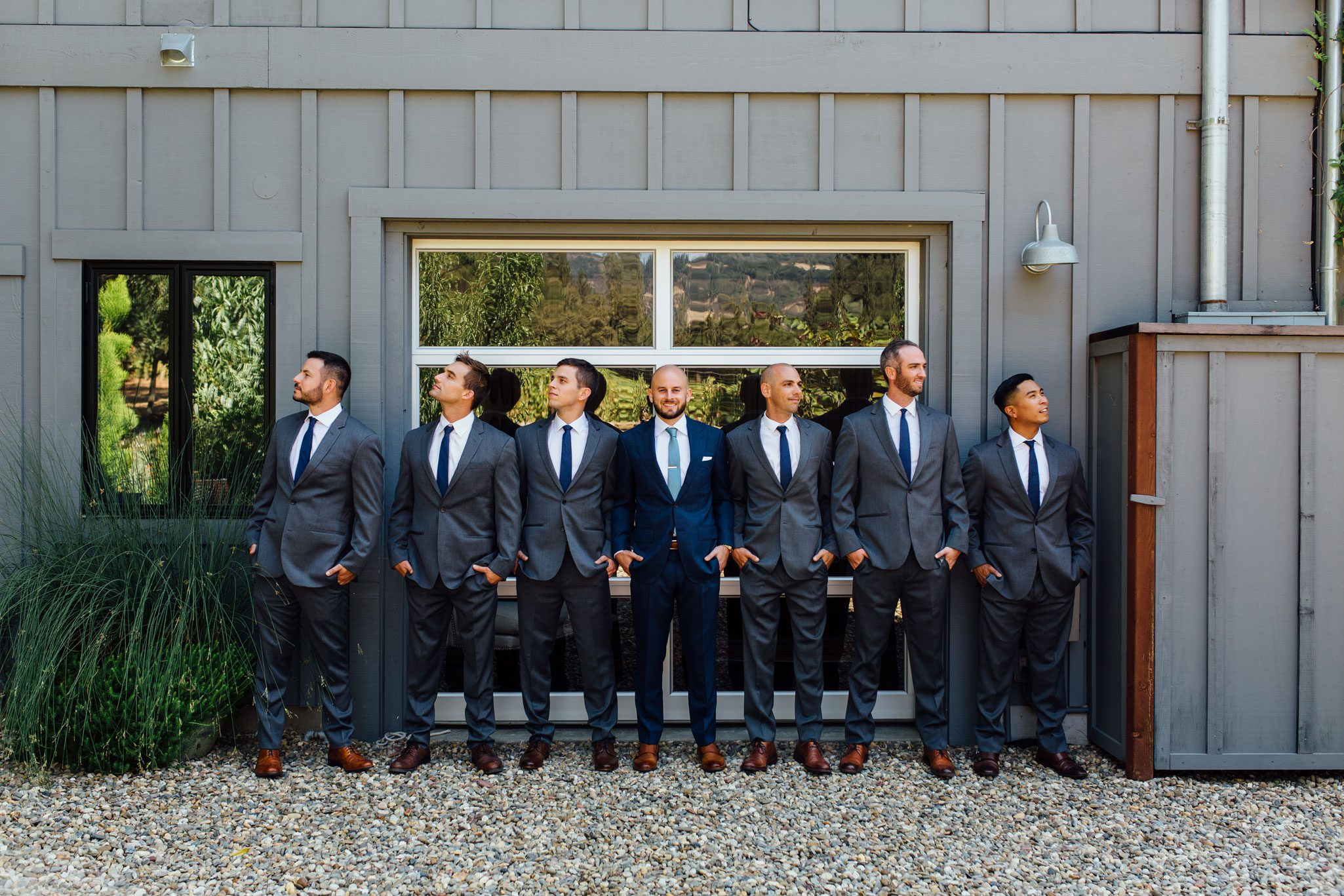 Groomsmen - A Romantic Backyard Wedding in Wine Country, Napa Valley California