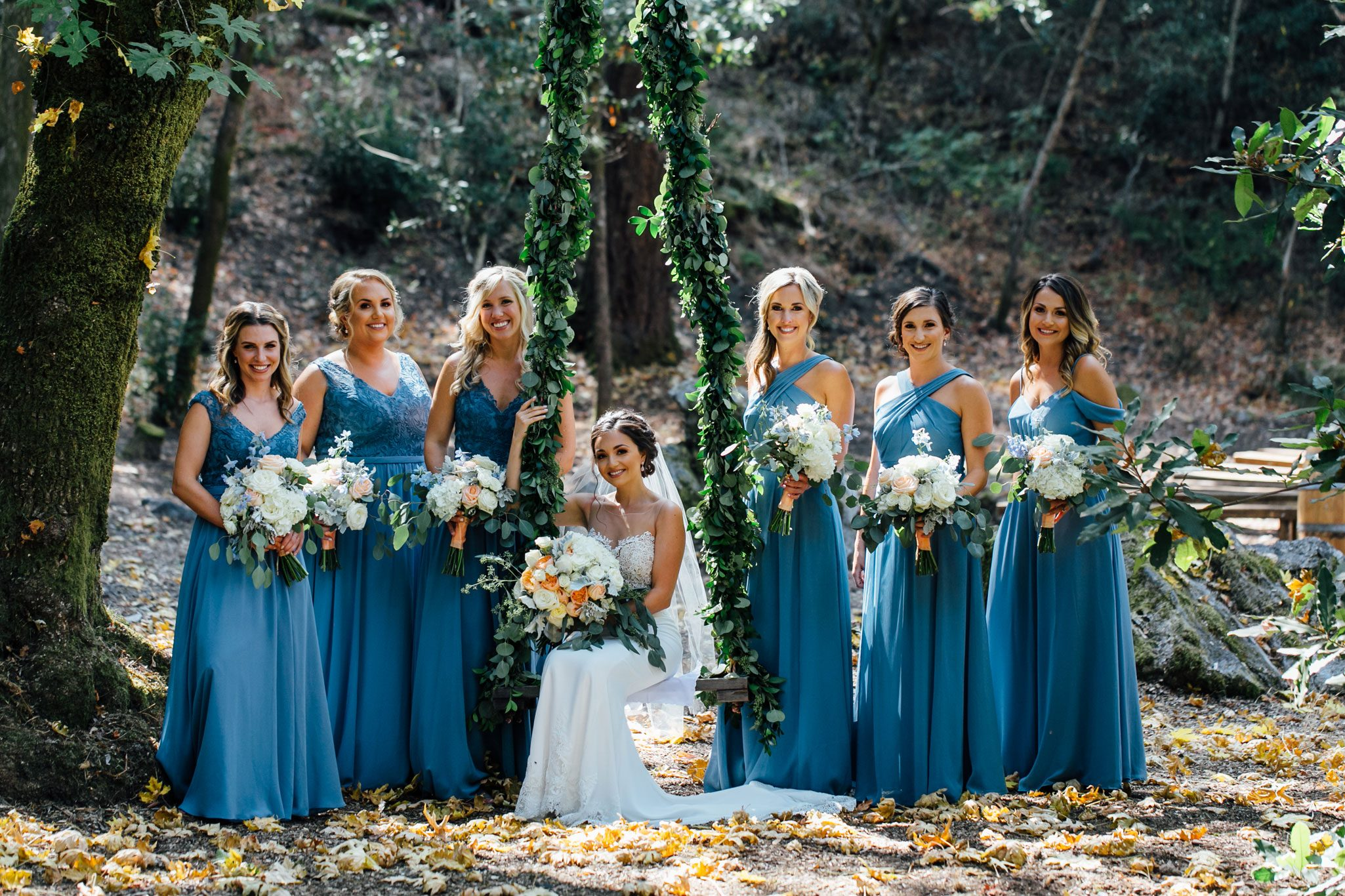 Bridesmaids - A Romantic Backyard Wedding in Wine Country, Napa Valley California