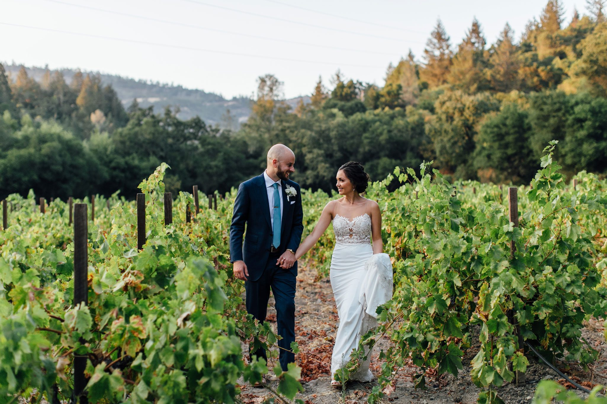 Bride & groom, Napa Valley wedding