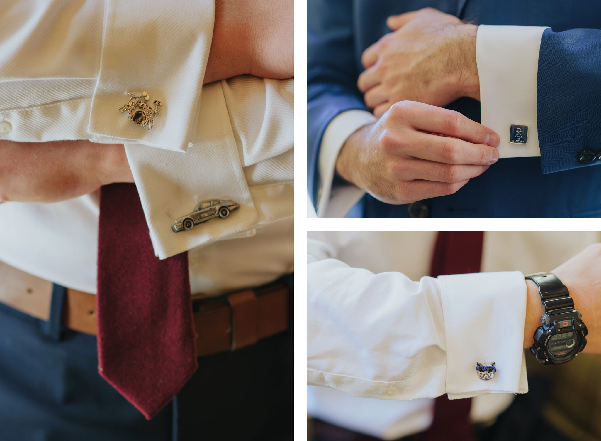 Personalized cufflinks for the boys