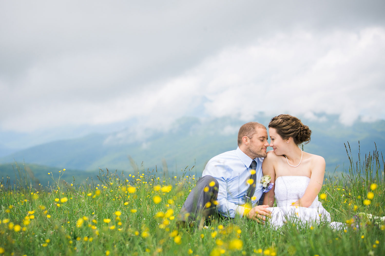 A Mountaintop Wildflower Elopement in North Carolina