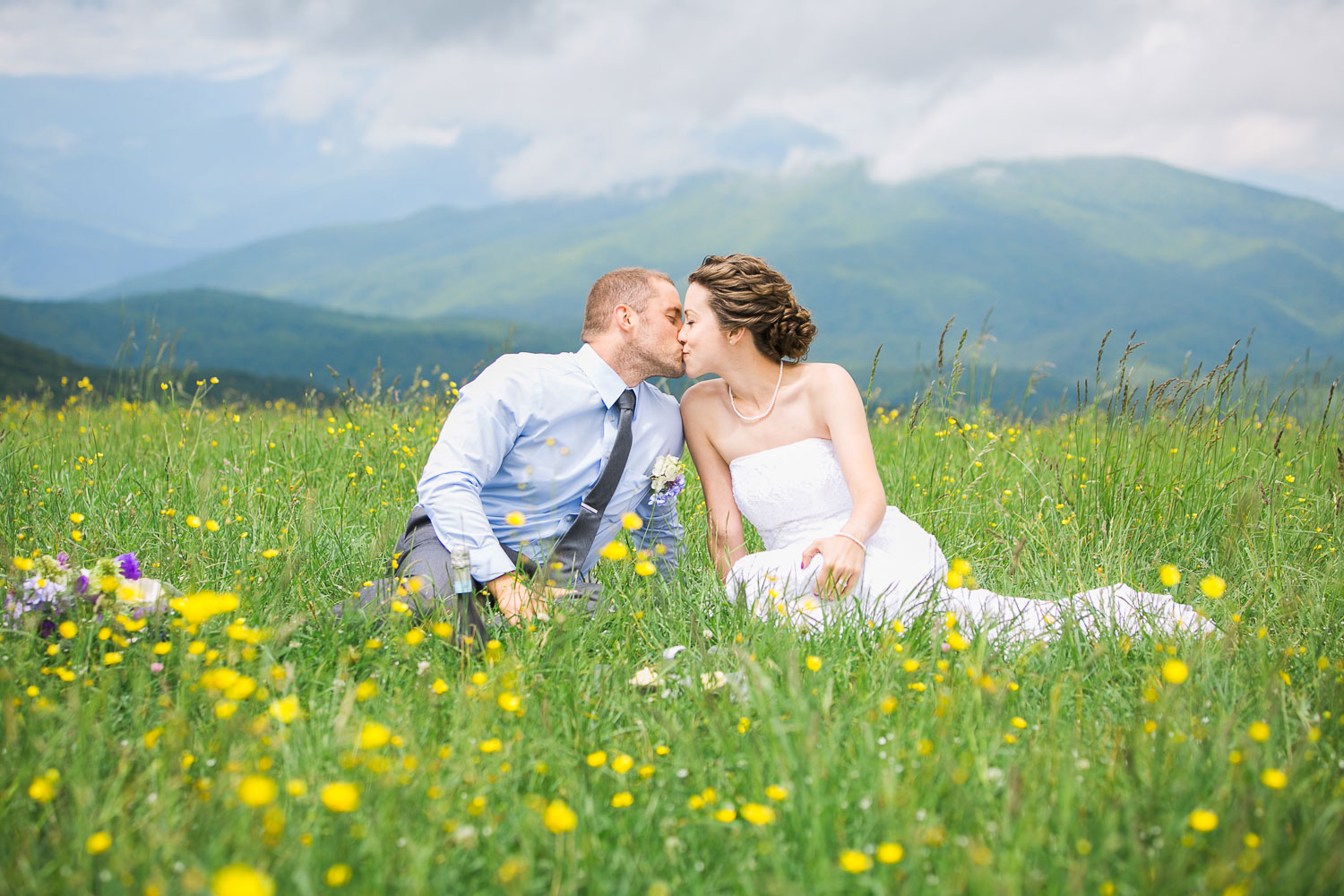 A Mountaintop Elopement in the Wildflowers