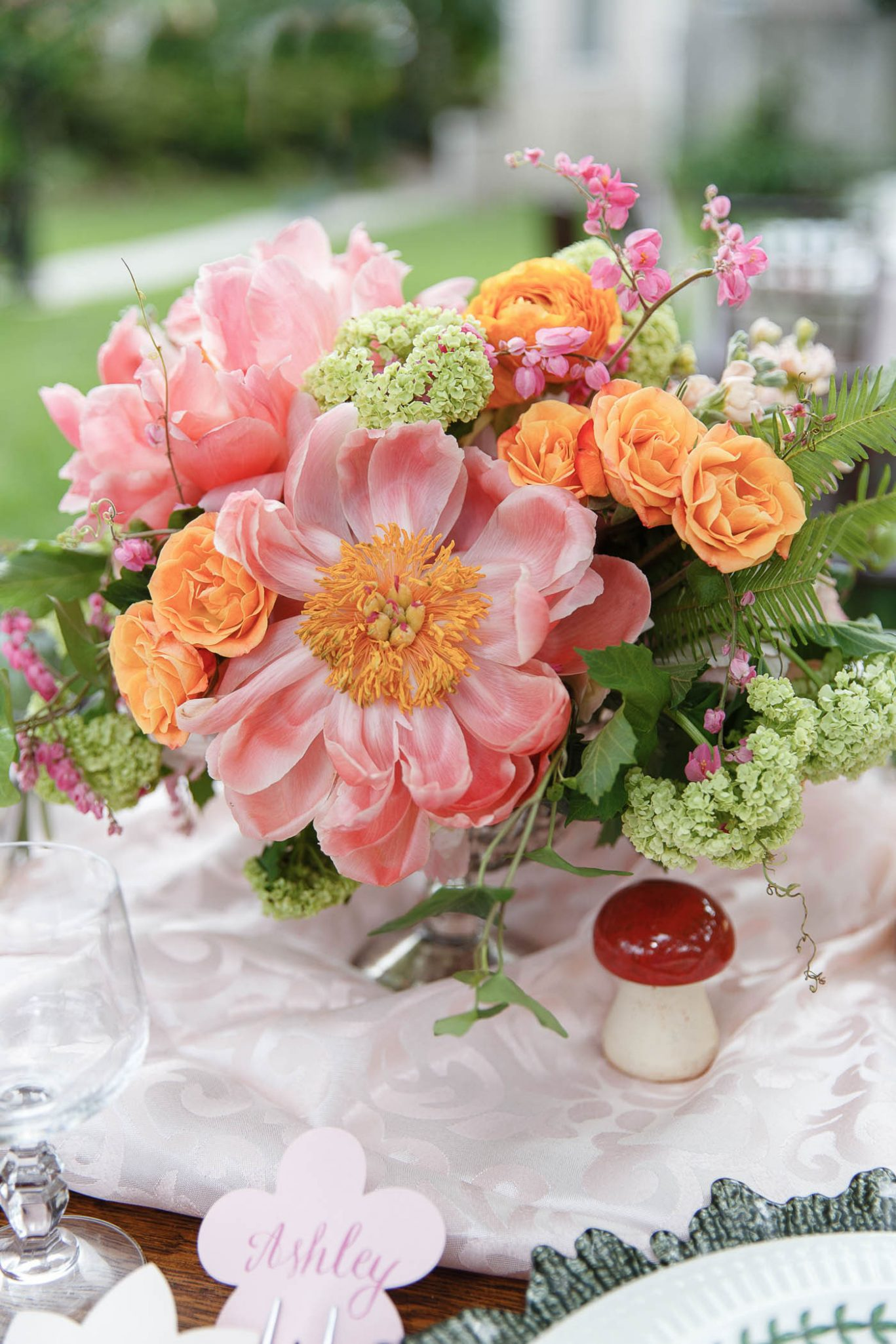 Peony Centerpiece | Spring Garden Wedding